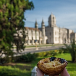 Pastel de Nata at Belem - a breakfast with a view