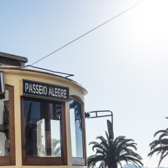 old tram to Passeio Allegre