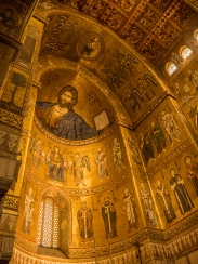 Monreale cathedral (St. Thomas of Canterbury lower circle right, middle figure)