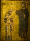 Santa Maria dell'Ammiraglio - Kind Roger II crowned by Christ