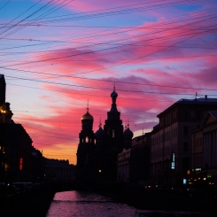 Savior of the Spilled Blood at sunset