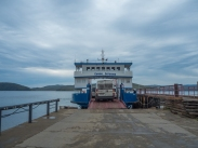 unloading the ferry (in reverse)