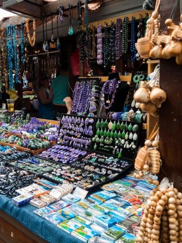 Listvyanka market - gem stones