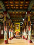 inside one of the temples