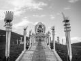 Buddha altar above the monastery