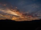 step at sunset
