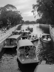 traffic jam on the boating lake