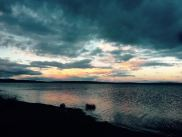 Lake Ogii at sunset