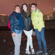 Xi'An city walls - with two italian ladies I met