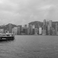 HK skyline from Kow Loon on a hazy day