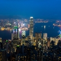 HK skyline after sunset