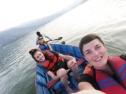 boat ride on Pokhara Lake