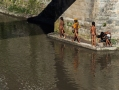 local kids swimming in the holy river