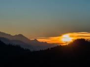 Sunrise over Annapurna range