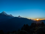 Sunrise over Annapurna range