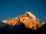 sunset over Mt. Macchapucchre