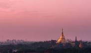 Sunset skies over Shwedogan Pagoda