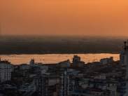 Riverside at sunset, Yangon