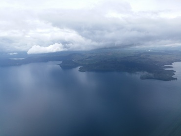 lake Taupo from the air