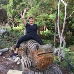 Kacenka & giant lizard