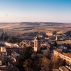 view from the bell tower of Segovia Cathedral
