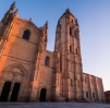 Segovia Cathedral at sunset light