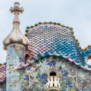 Casa Batlló - the dragon on the roof