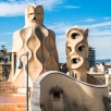 Casa Milà rooftop and chimneys